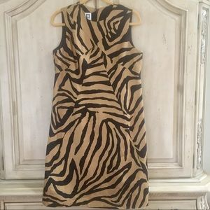 """Linen Animal Print """"Anne Klein"""" Dress (10)"""